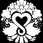 Menesty sydämellä - Sisäisten matkojen matkatoimisto - merkkilogo valkoinen